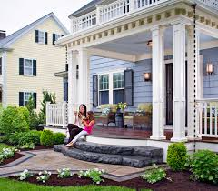 ideas how to beautify the front of the house with a porch