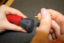 free needle felting tutorial felted tomte nisse tonttu or
