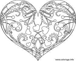 Coloriage Coeur Rose Mandala dessin