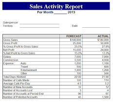 daily activity report template sales activity report images