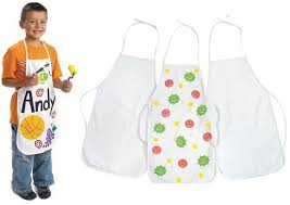 3pcs lot children s aprons paint unfinished canvas apron sleeveless