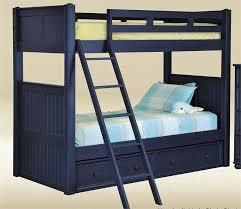 Dillon Navy Blue Twin Bunk Bed Kids Blue Bunk Beds - Navy bunk beds
