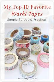 my top 10 favorite washi tape simple and practical