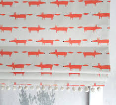 Roman Blind Mini Mr Fox Blackout Roman Blind By The Nursery Blind Company