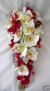 Orchid Bouquet Bouquet Artificial Wedding Flowers Brides Orchid Bouquet In