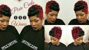 pixie curl u0026 waves short hair style youtube