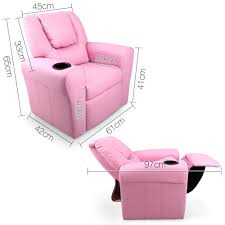 Leather Recliners South Africa Kids Padded Pu Leather Recliner Chair Pink