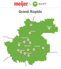 Grand Rapids Mi Zip Code Map by Where Meijer Home Delivery Will Be Available First In West