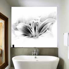 bathroom wall mural ideas bathroom wall decor ideas simple black white wall mural photo