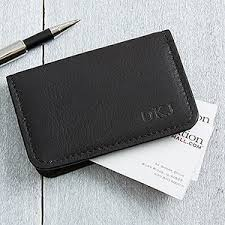 Leather Personalized Business Card Holder Personalized Black Leather Business Card Cases Monogram
