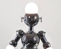 robot lamp etsy