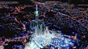 abraj al bait towers mecca at night desktop backgrounds for free