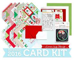 nichol spohr llc simon says st december 2016 card kit merry