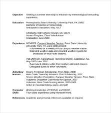 Sample Resume For First Year College Student by Sample College Student Resume Template 10 Download Free