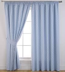 light blue curtains bedroom sundour curtains dotty in powder blue 46 x54 3 inch pencil