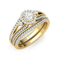 solitaire rings gold images Eternal bridal ring set jewellery india online jpg
