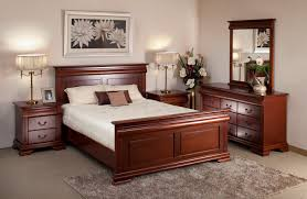 awesome bedroom furniture design ideas come with cherry wood bed