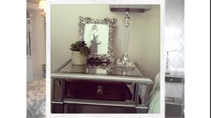 Silver Mirrored Bedroom Furniture Furniture Silver Hayworth Vanity With Table Standing Lamp For