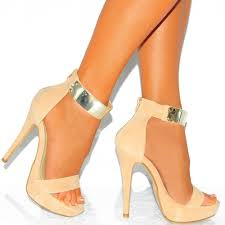ladies tan and gold ankle strap strappy sandals