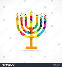 hanukkah candles colors menorah israel candle colorful mosaic vector stock vector