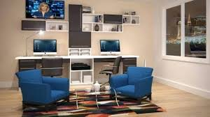 Home Office With Two Desks Dual Desk Home Office 2 Person Computer Image For Two