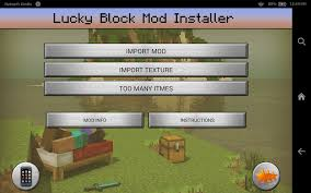 mc pe apk lucky block mod minecraft pe android apps on play