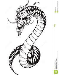 black and white oriental dragon royalty free stock images image