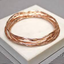 rose gold bracelet set images Rose gold stacking bangles jamie london jpg