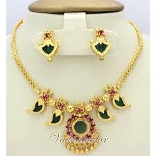 kerala earrings palakkamala ethnic kerala choker and earrings micro gold plated