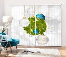 Santa Curtains Online Get Cheap Christmas Window Curtains Aliexpress Com