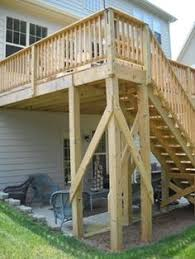 how to build a two story house how to build tall outdoor stairs for a high 2nd story deck or
