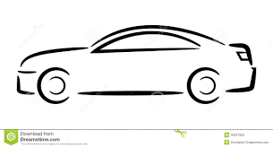 outline of car clipart clipartxtras