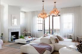 furniture living room design with bubble chandelier also wood