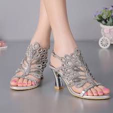 aliexpress com buy summer new sandals chunky heel floral silver