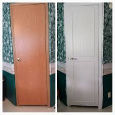 mobile home makeover interior door change and doors