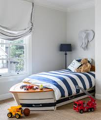 Pottery Barn White Twin Bed White And Blue Boy Room With Twin Bed And Trundle Traditional
