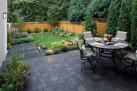 garden awesome landscape ideas with small patio and furnishing