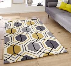 Gold Rugs Contemporary Yellow And Grey Rug Rugs Decoration