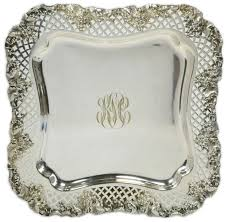 monogrammed platters and trays monogrammed silver tray monograms combining letters to make a
