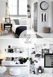 furniture design decorating in black and white