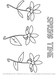 springtime printable coloring pages placecards placemats