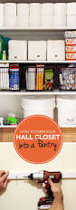 expand your hall closet storage space and turn it into a pantry