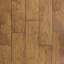 Floor Wood Laminate Shop Allen Roth 6 14 In W X 4 52 Ft L Saddle Hickory Handscraped
