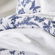 tropical floral navy quilt cover set by florence broadhurst