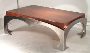 Coffee Table Amazing Modern Round Glass Metal Base Raw Steel - Metal table base designs