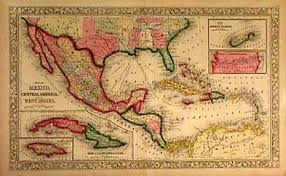 map of mexico and america antique map print chart atlas auction maps of america