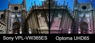 compare projectors for home theater optoma uhd65 home theater projector comparison sony vpl vw365es