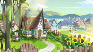 digital art drawing illustration fairy tale house village