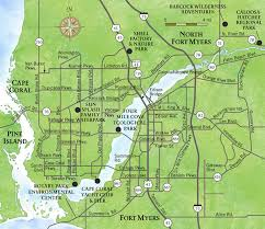map of areas and surrounding areas cap coral and surrounding area map waterway estates florida