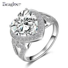 aliexpress buy beagloer new arrival ring gold aliexpress buy beagloer brand big heart ring gold silver